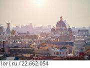 Купить «Восход солнца над Санкт-Петербургом», фото № 22662054, снято 17 марта 2015 г. (c) Зезелина Марина / Фотобанк Лори