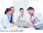 Купить «business team having meeting in office», фото № 22670590, снято 9 июня 2013 г. (c) Syda Productions / Фотобанк Лори