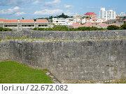 Купить «Castle wall in japan», фото № 22672082, снято 19 января 2019 г. (c) PantherMedia / Фотобанк Лори