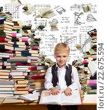 Купить «Interesting reading for children», фото № 22675594, снято 25 июня 2013 г. (c) Владимир Мельников / Фотобанк Лори