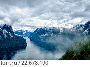 Купить «Beautiful Hardanger fjorden Nature Norway.», фото № 22678190, снято 19 июня 2015 г. (c) Андрей Армягов / Фотобанк Лори