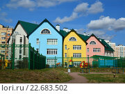 Купить «Зеленоград, детский сад», фото № 22683502, снято 24 апреля 2016 г. (c) Володина Ольга / Фотобанк Лори