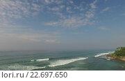 Купить «sea or ocean waves and blue sky», видеоролик № 22697650, снято 20 февраля 2016 г. (c) Syda Productions / Фотобанк Лори