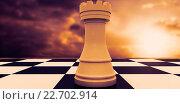Купить «Composite image of white rook on chess board», фото № 22702914, снято 18 ноября 2018 г. (c) Wavebreak Media / Фотобанк Лори