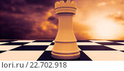 Купить «Composite image of white rook on chess board», фото № 22702918, снято 18 ноября 2018 г. (c) Wavebreak Media / Фотобанк Лори