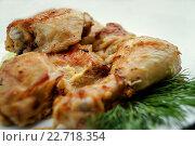 Жареная курица. Стоковое фото, фотограф Игорь Аникин / Фотобанк Лори