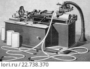 Phonograph by thomas alva edison, historical illustration, wood engraving, circa 1888. Стоковое фото, фотограф Bildagentur-online \ UIG / age Fotostock / Фотобанк Лори