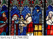 Купить «Our Lady of Strasbourg Cathedral. Stained glass window,14th century. Presentation of Jesus child to the temple.», фото № 22744002, снято 24 апреля 2019 г. (c) age Fotostock / Фотобанк Лори