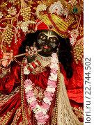 Купить «Statue of Krishna in an ISKCON temple», фото № 22744502, снято 19 апреля 2019 г. (c) age Fotostock / Фотобанк Лори