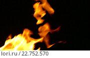 Пламя на черном фоне. Стоковое видео, видеограф Александр Устич / Фотобанк Лори