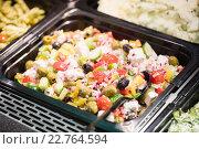 Купить «Focus on healthy salad», фото № 22764594, снято 16 октября 2015 г. (c) Wavebreak Media / Фотобанк Лори