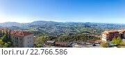 Купить «Панорама Сан Марино и Апеннинские горы. Вид на гору Монте-Титано», фото № 22766586, снято 22 мая 2019 г. (c) Евгений Ткачёв / Фотобанк Лори