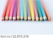 Купить «close up of crayons or color pencils», фото № 22815218, снято 17 марта 2016 г. (c) Syda Productions / Фотобанк Лори