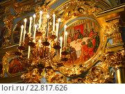 Купить «Паникадило Воскресенского собора в Новоиерусалимском монастыре в Истре», эксклюзивное фото № 22817626, снято 6 мая 2016 г. (c) lana1501 / Фотобанк Лори