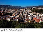 Купить «Malaga, view from the castle Castillo de Gibralfaro to the city, Spain, Andalusia», фото № 22823126, снято 12 ноября 2019 г. (c) age Fotostock / Фотобанк Лори