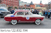Ретро-ралли «Ингосстрах Exclusive Classic Day» в Москве. ГАЗ-М21 (Волга) (2016 год). Редакционное фото, фотограф Depth / Фотобанк Лори
