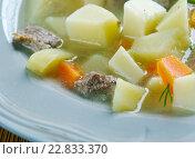 Купить «German Potato Soup», фото № 22833370, снято 11 мая 2016 г. (c) Александр Fanfo / Фотобанк Лори