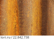 Металлический ржавый фон. Стоковое фото, фотограф Ильнар Ханов / Фотобанк Лори