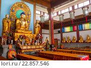 Купить «Вид на статую Будды в одном из китайских храмов в городе Шанхае, Китай», фото № 22857546, снято 12 мая 2013 г. (c) Николай Винокуров / Фотобанк Лори