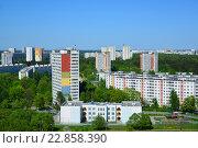 Купить «Zelenograd - an eco-friendly area of Moscow», фото № 22858390, снято 13 мая 2016 г. (c) Володина Ольга / Фотобанк Лори