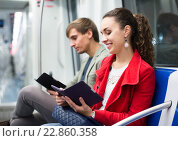Купить «Adults people reading smartphone and e-book», фото № 22860358, снято 23 июля 2019 г. (c) Яков Филимонов / Фотобанк Лори