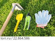 Купить «Садовый инструмент», эксклюзивное фото № 22864586, снято 7 мая 2016 г. (c) Юрий Морозов / Фотобанк Лори