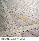 brick in casorate sempione street lombardy  varese. Стоковое фото, фотограф Zoonar/LKPRO / easy Fotostock / Фотобанк Лори
