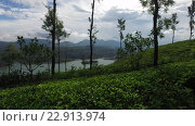 Купить «view to lake or river from land hills», видеоролик № 22913974, снято 18 февраля 2016 г. (c) Syda Productions / Фотобанк Лори