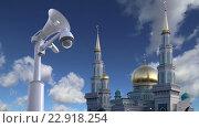 Купить «Московская соборная мечеть. Москва. Россия», видеоролик № 22918254, снято 17 мая 2016 г. (c) Владимир Журавлев / Фотобанк Лори