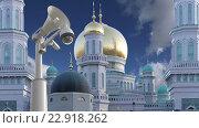 Купить «Московская соборная мечеть. Москва. Россия», видеоролик № 22918262, снято 17 мая 2016 г. (c) Владимир Журавлев / Фотобанк Лори