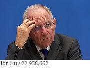 Berlin, Germany, Wolfgang Schaeuble, CDU, Federal Finance (2016 год). Редакционное фото, агентство Caro Photoagency / Фотобанк Лори