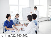 Купить «group of doctors on presentation at hospital», фото № 22940562, снято 14 марта 2015 г. (c) Syda Productions / Фотобанк Лори