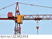 Купить «Строительный кран крупным планом», фото № 22942014, снято 10 января 2016 г. (c) Сергей Трофименко / Фотобанк Лори