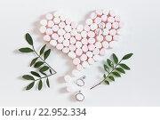 Зефирное сердце. Стоковое фото, фотограф Екатерина Давыдова / Фотобанк Лори