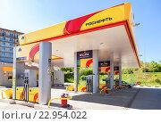 """Автозаправочная станция нефтяной компании """"Роснефть"""", фото № 22954022, снято 14 мая 2016 г. (c) FotograFF / Фотобанк Лори"""