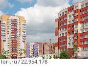 Купить «Строительство нового жилья», эксклюзивное фото № 22954178, снято 21 мая 2016 г. (c) Svet / Фотобанк Лори