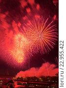 Купить «Салют в Москве в Лужниках, в честь 71-ой годовщины Победы в Великой Отечественной войне», эксклюзивное фото № 22955422, снято 9 мая 2016 г. (c) Алексей Бок / Фотобанк Лори
