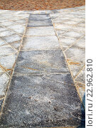 brick in casorate sempione   pavement of a curch n marble. Стоковое фото, фотограф Zoonar/LKPRO / easy Fotostock / Фотобанк Лори