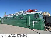 Купить «Грузовой электровоз ВЛ-60-065 в железнодорожном музее в бывшем Варшавском вокзале в Санкт-Петербурга», фото № 22979266, снято 12 мая 2016 г. (c) Максим Мицун / Фотобанк Лори
