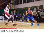 Купить «Баскетбол, Arvydas Eitutavicius с мячом», фото № 22985262, снято 9 ноября 2013 г. (c) Pavel Shchegolev / Фотобанк Лори