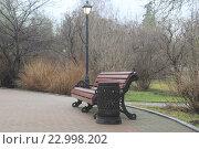 Скамейка в парке. Стоковое фото, фотограф Андрей Спицын / Фотобанк Лори