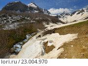 Купить «Горная долина на Кавказе весной», фото № 23004970, снято 21 мая 2016 г. (c) александр жарников / Фотобанк Лори