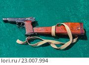 Купить «Автоматический пистолет Стечкина или АПС», фото № 23007994, снято 14 августа 2018 г. (c) FotograFF / Фотобанк Лори