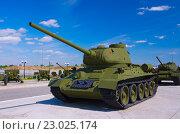 Купить «Танк Т-34-85», фото № 23025174, снято 21 мая 2016 г. (c) Megapixx / Фотобанк Лори