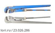 Два старых газовых ключа синий и серый. Стоковое фото, фотограф Olena Kravchuk / Фотобанк Лори