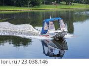 Купить «Катер спасательной службы на водных объектах РМИ-00-91», фото № 23038146, снято 4 июня 2016 г. (c) Родион Власов / Фотобанк Лори