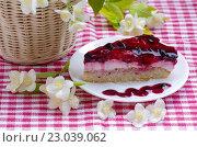 Купить «Торт с ягодами в желе», фото № 23039062, снято 5 июня 2016 г. (c) Natalya Sidorova / Фотобанк Лори