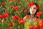 Купить «Girl in a field of poppies», фото № 23041958, снято 31 мая 2016 г. (c) Типляшина Евгения / Фотобанк Лори