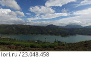 Купить «view to lake or river from land hills», видеоролик № 23048458, снято 18 февраля 2016 г. (c) Syda Productions / Фотобанк Лори