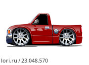 Купить «Красный пикап», иллюстрация № 23048570 (c) Александр Володин / Фотобанк Лори